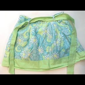 Lily Pulitzer Girls Blue Green Seahorse Skirt